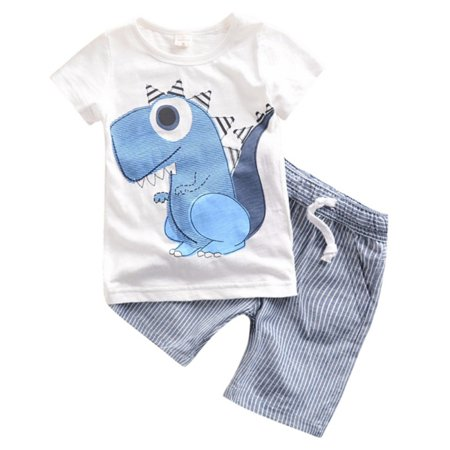 86c990bd2641 Top Bodysuit Infant Cotton Clothes Outfit Set with Dinosaur Romper Jumpsuit  for Baby Kids - Walmart.com