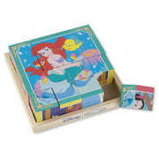 Melissa & Doug Disney Princess Wooden Cube Puzzle With Storage Tray (6 Puzzles in 1, Great Gift for Girls and Boys - Best for 3, 4, 5 Year Olds and Up)