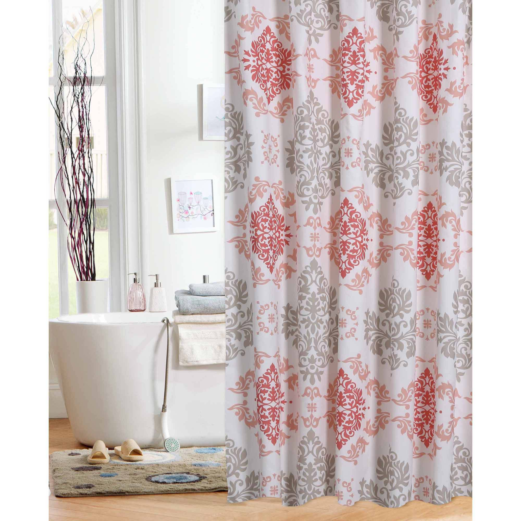 pink shower curtains - walmart