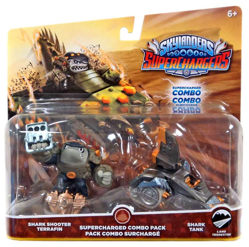 skylanders superchargers dual pack #1: shark shooter terrafin and shark tank 047875875821