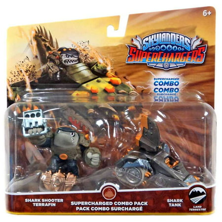 skylanders superchargers dual pack #1: shark shooter terrafin and shark tank (Skylanders Slippers)