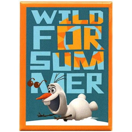 Frozen Magnet: Wild for Summer, Officially Licensed Products Assorted Artworks - Size - 3.5