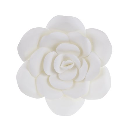 Mega Crafts - 12'' Handmade Paper Flower in White | For Home Décor, Wedding Bouquets & Receptions, Event Flower Planning, Table Centerpieces, Backdrop Wall Decoration, Garlands & Parties - Table Centerpieces For Weddings