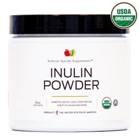 Certified Organic Fiber (Organic Inulin Powder Fiber Supplement - Jerusalem Artichoke Prebiotic Bulk Inulin Fiber Powder 8oz Digestion Gut)