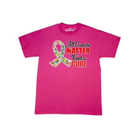 All Cancers Matter Find a Cure with Geometrical Ribbon T-Shirt