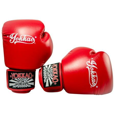 YOKKAO Vertigo Muay Thai Boxing Gloves - Black, Red, Blue - 2018