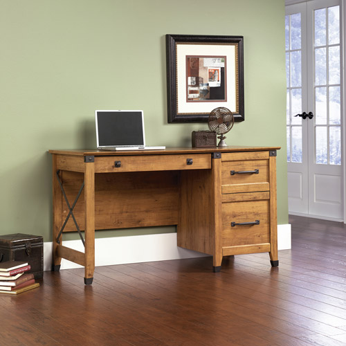 Sauder Registry Row Desk - Amber Pine