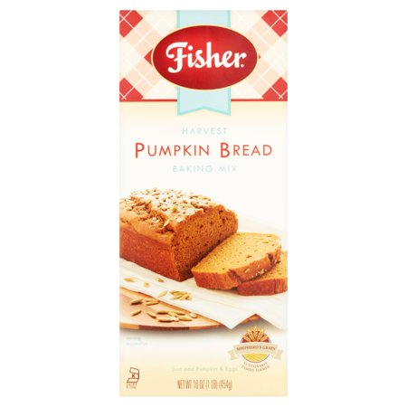 Fisher Harvest Pumpkin Bread Baking Mix, 16 oz (Halloween Pumpkin Bread)