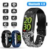 TSV Fitness Tracker, Bluetooth Health Activity Tracker Fitness Swimming Bracelet with Heart Rate Monitor, Sleep Tracker IP68 Waterproof Watch with Calorie Counter, Pedometer for Men Women Kids, Gift WOWParts team offers 30 days return or replacement quality warranty & lifetime technical supports. Please contact us freely if you need anyfurhter assistance. Product Features: The fitness tracker combines a solid host of features, understated appearance, IP68 waterproof design and a user-friendly touch screen, deliver an array of fitness data as well as notifications to a compatible smartphone. With an emphasis on heart rate monitoring, sports tracking and sleep statistics, this slim cool tracker enables you to live a healthier lifestyle, helps you stay fit and healthy. The fitness watch can connect GPS to your phone, the route is shown in the app. Track your movements in real -time to display speed and distance on the app. With this, you can encourage yourself to record your fitness roadmap. No worries about missing any call or message. Vibrate your wrist and show incoming calls, SMS text and SNS messages including Facebook, Twitter, WhatsApp, Linkedin, Messenger, etc. Max. 8 messages can be stored. The non-disturb mode enables you to focus on your thing without any interruption of notifications. Product Specification: Type: Smart Watch Bluetooth: 4.0 Vibration: Mute/Vibration Waterproof Level: IP68 Battery Type: 70mAh Lithium Polymer Battery Charging Type: USB Charging Time: About 1.5 hours Work Time: 15 days Compatible System: Android 4.4 and above; iOS 8.0 and above Powerful Function: Track heart rate, steps, distance, calories burned Package Includes: 1x Smart Watch 1x USB Cable 1x Instructions