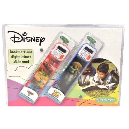 Disney Cars And Disney Toy Story 2pk Bookmark And Digital Timer All In One