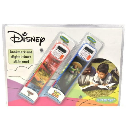 Disney Cars and Disney Toy Story 2PK Bookmark and Digital Timer All in One](Bookmark Timer)