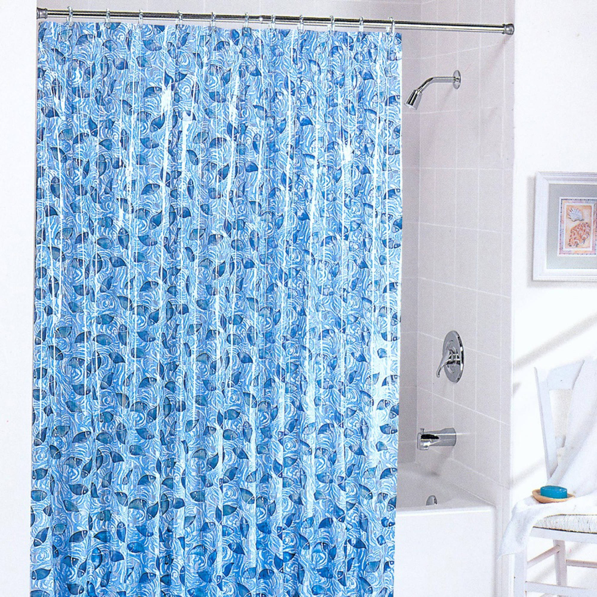 Batik Fish Shower Curtain