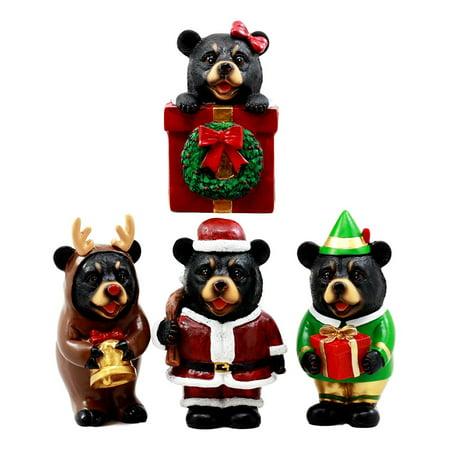 Santa Claus Elf (Ebros Whimsical Christmas Bears Figurine Set 4