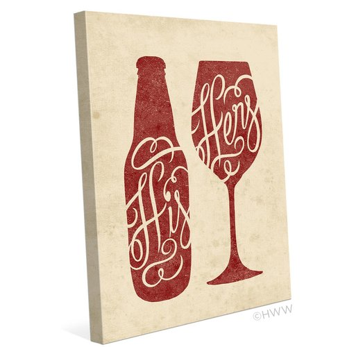 Click Wall Art His And Hers Graphic Art on Wrapped Canvas in