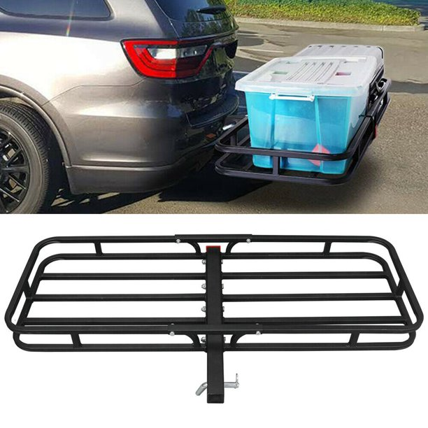 """Zeny Heavy Duty Steel Cargo Storage Carrier Basket Hitch Mount for 2"""" Hitch Receiver,500lb Capacity - Black"""