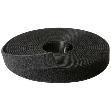 "Rip-Tie 1/2"" x 10 ft. Wrap Strap Hook and Loop Black Roll W-10-1RL-BK"