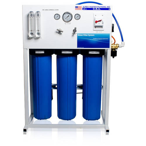 APEX Commercial Reverse Osmosis System for Drinking Water and Hydroponic Treatment, 1500 GPD