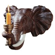 Design Toscano Elephant Sculptural Wall Sconce