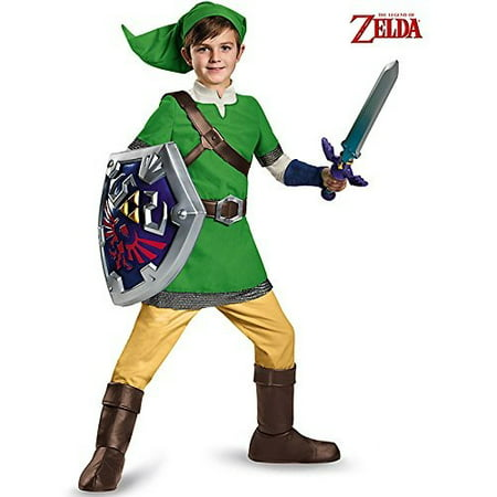 Zelda Link Deluxe Child Halloween Costume - Zelda Costume Accessories