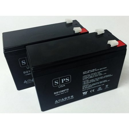 SPS Brand 12V 9Ah Replacement Battery for Merida PC 550 Scooter (Terminal T2) (2 Pack)