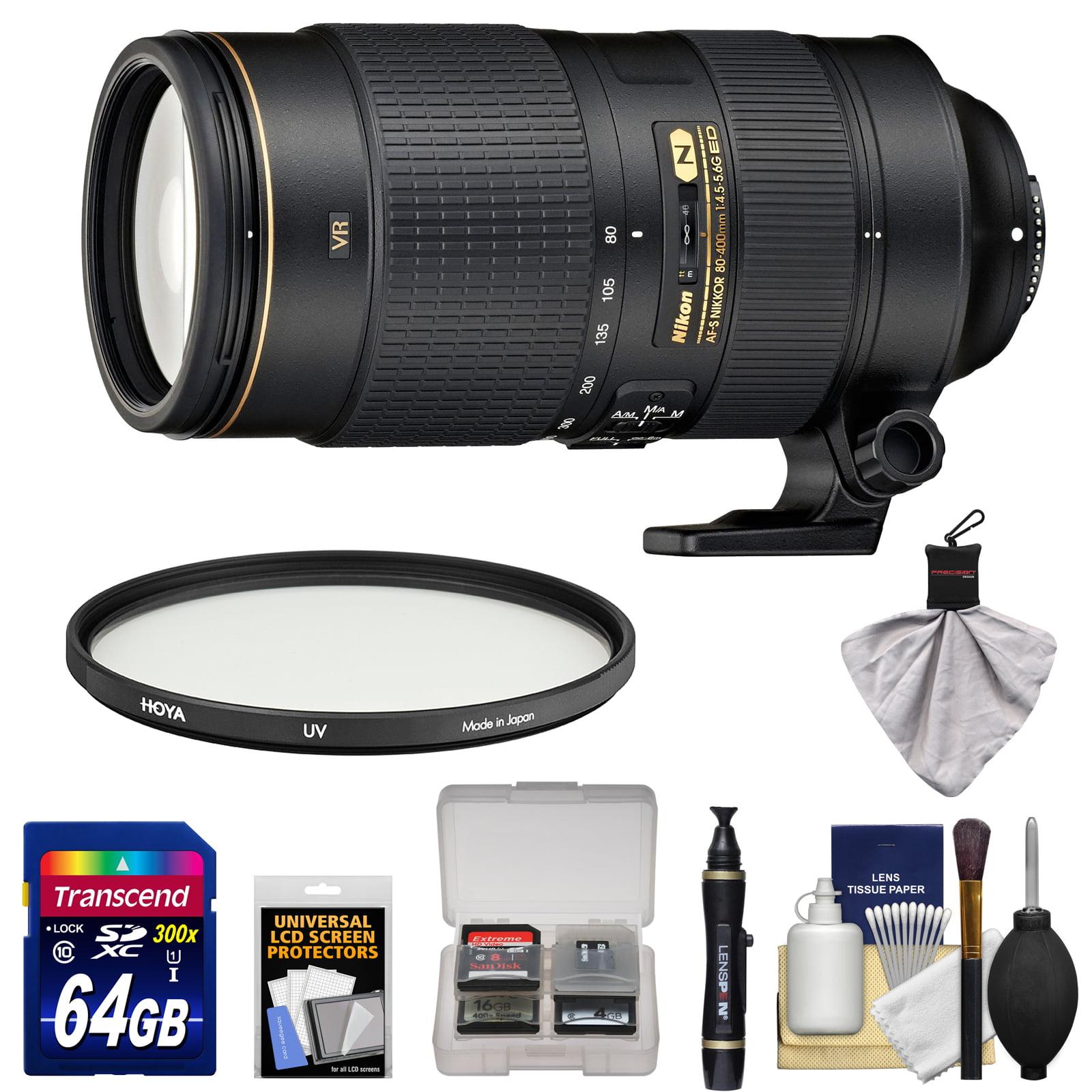 Nikon 80-400mm f/4.5-5.6G VR AF-S ED Nikkor-Zoom Lens wit...