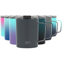 Simple Modern 12oz Scout Coffee Travel Mug Tumbler w/ Clear Flip Lid - Cup Vacuum Insulated Camping Flask with Lid 18/8 Stainless Steel Hydro -Graphite