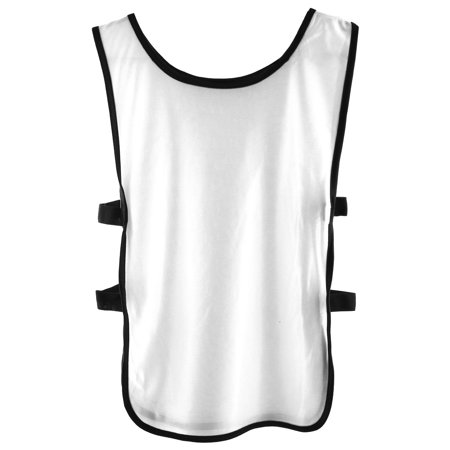Soccer Training Vests (Adult Exercise Basketball Football Match Soccer Bib Sports Training Vest White)