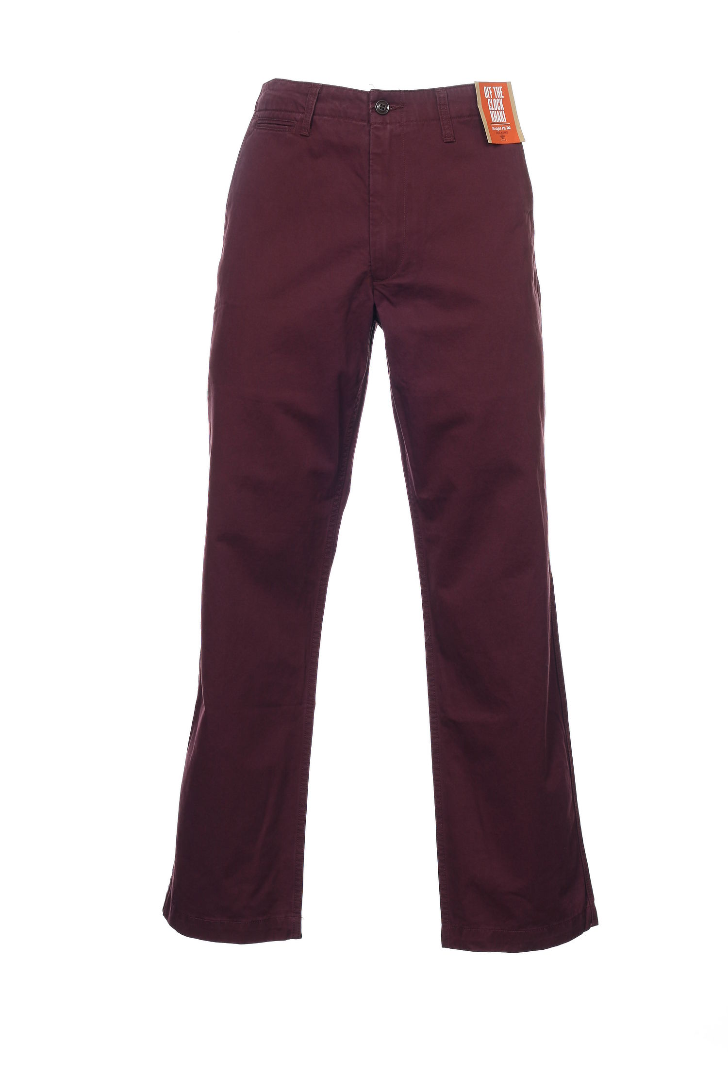 Dockers Men's Burgundy Flat Front Pants by Dockers
