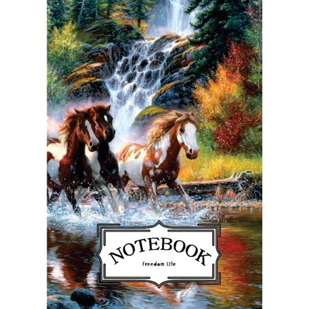 Notebook: Horses Painting: Notebook Journal Diary, 120 Lined Pages, 7