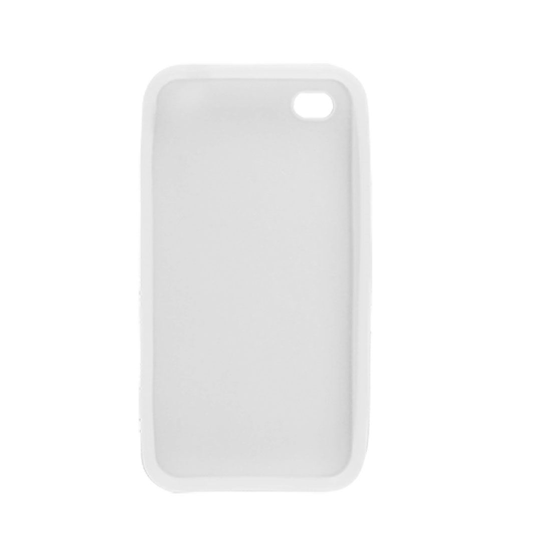 Protective Silicone Skin White Case for Apple iPhone 4 - image 1 of 1