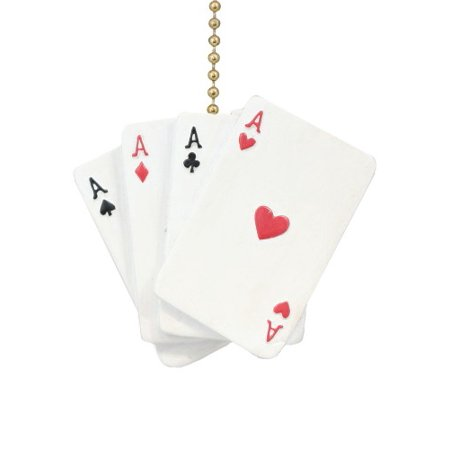Poker Hand Aces Hearts Diamonds Spades Clubs Ceiling Fan Light