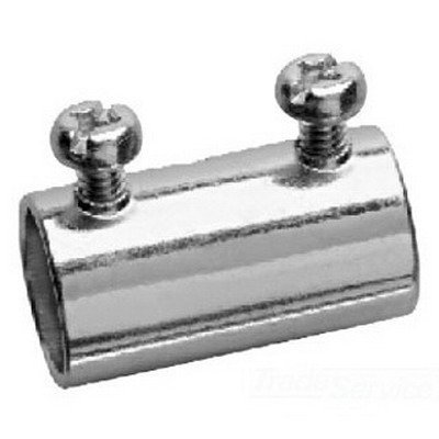 Crouse-Hinds 462 Zinc Plated Steel EMT Set Screw Coupling 1 Inch