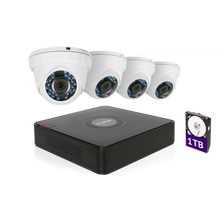 LaView 1080P HD 4 Security Cameras 4CH Home Video Camera System W/1TB HDD
