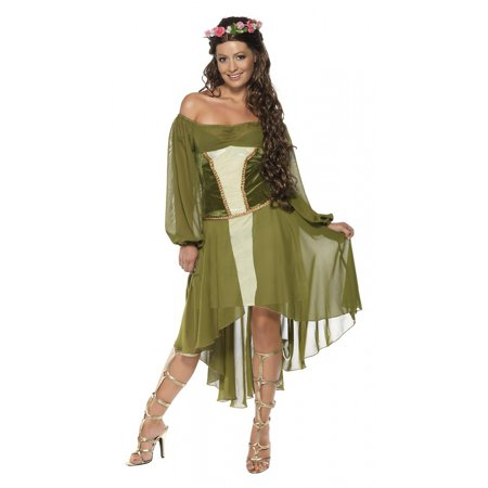 Fair Maiden Adult Costume - (Adult Poncho Green M & M's Costumes)