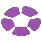 5pc Purple Plastic Scraper Nail Art Stamping Accessory Tools