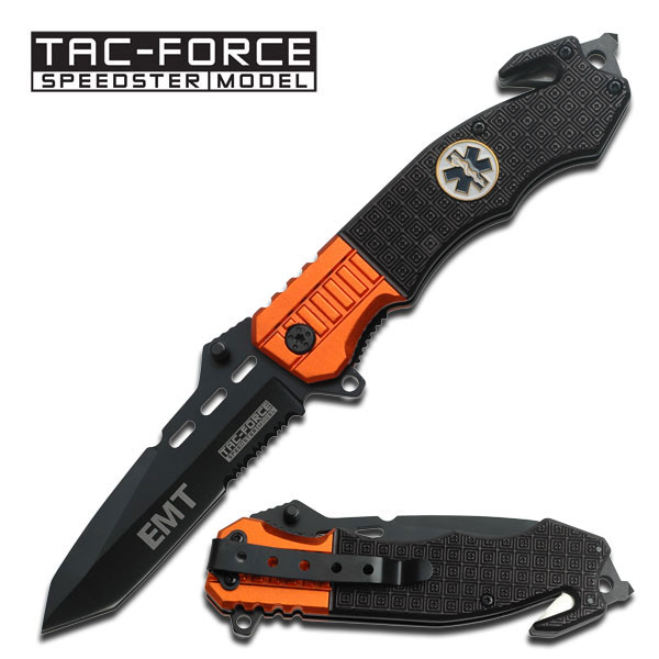 Tac-Force Assisted Opening EMT Emergency Stainless Steel Rescue Knife TF-740EM