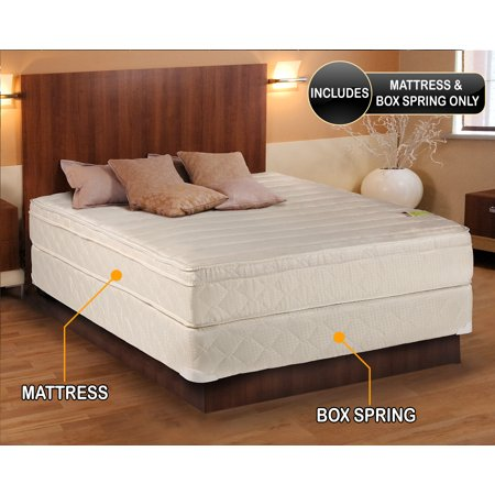 Comfort Pedic Firm Pillow Top  Eurotop  Mattress   Box Spring  Full Size 54  X75  X11    Sleep System With Enhance Support  Fully Assembled  Plush Knit Cover  Great For Your Back   By Dream Solutions Usa