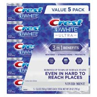 5-Pack Crest 3D 5.6 oz White Ultra Whitening Toothpaste