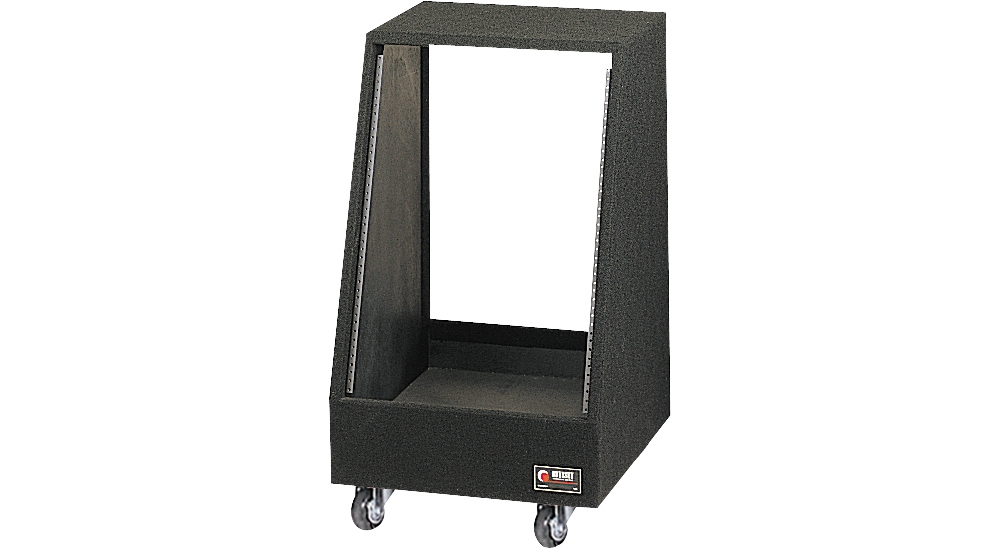 Carpeted Studio Rack with Wheels by Odyssey