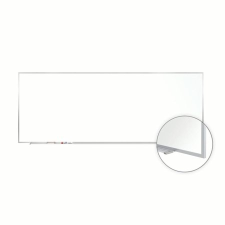 M3-410-4 Ghent Magnetic Markerboard Painted Steel Whiteboard with Aluminum Frame, 4