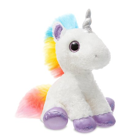 Rainbow Unicorn Mid-Size stuffed animal White 12
