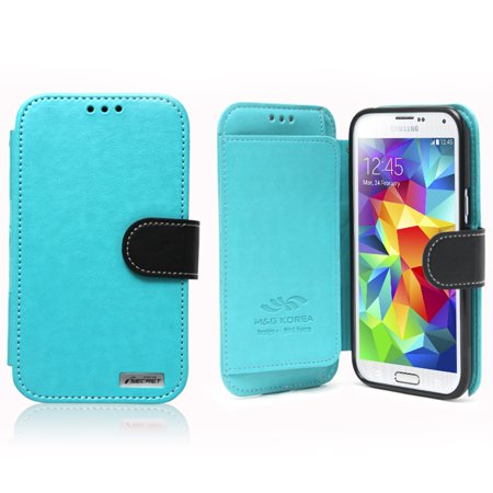 Nodea Dark Mint  Black Samsung Galaxy S5 Secret Diary Series Wallet Case Hard Case  Tpu  Faux Leather W  Credit Card Slots