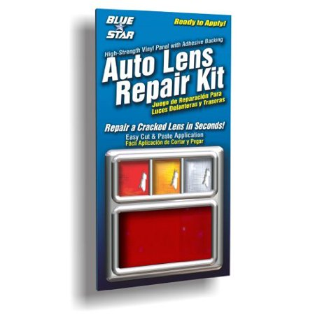 Rod Tail Lights (Blue Star Auto Brake Light or Tail Light Lens Repair Piece, Red Color)