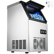 VEVOR 110V Commercial Ice Maker 120lbs/24h with 29lbs Storage 5x9 Cubes