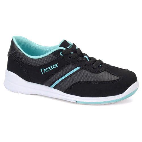Dexter Dani Black/Turquoise Women's Bowling Shoes, Size 8.5
