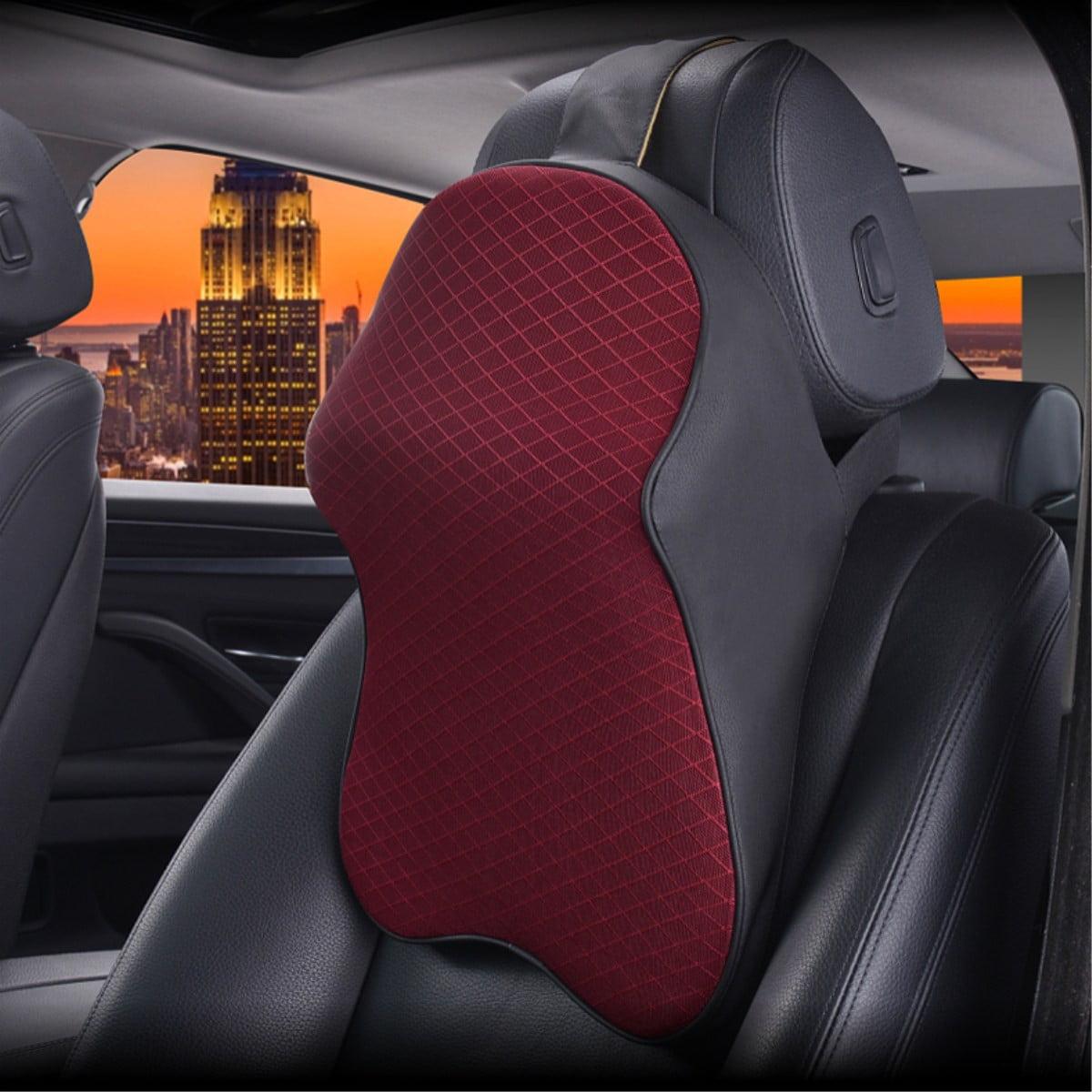 Car Seat Headrest Pad Memory Foam Pillow Head Neck Rest Support Cushion For MINI