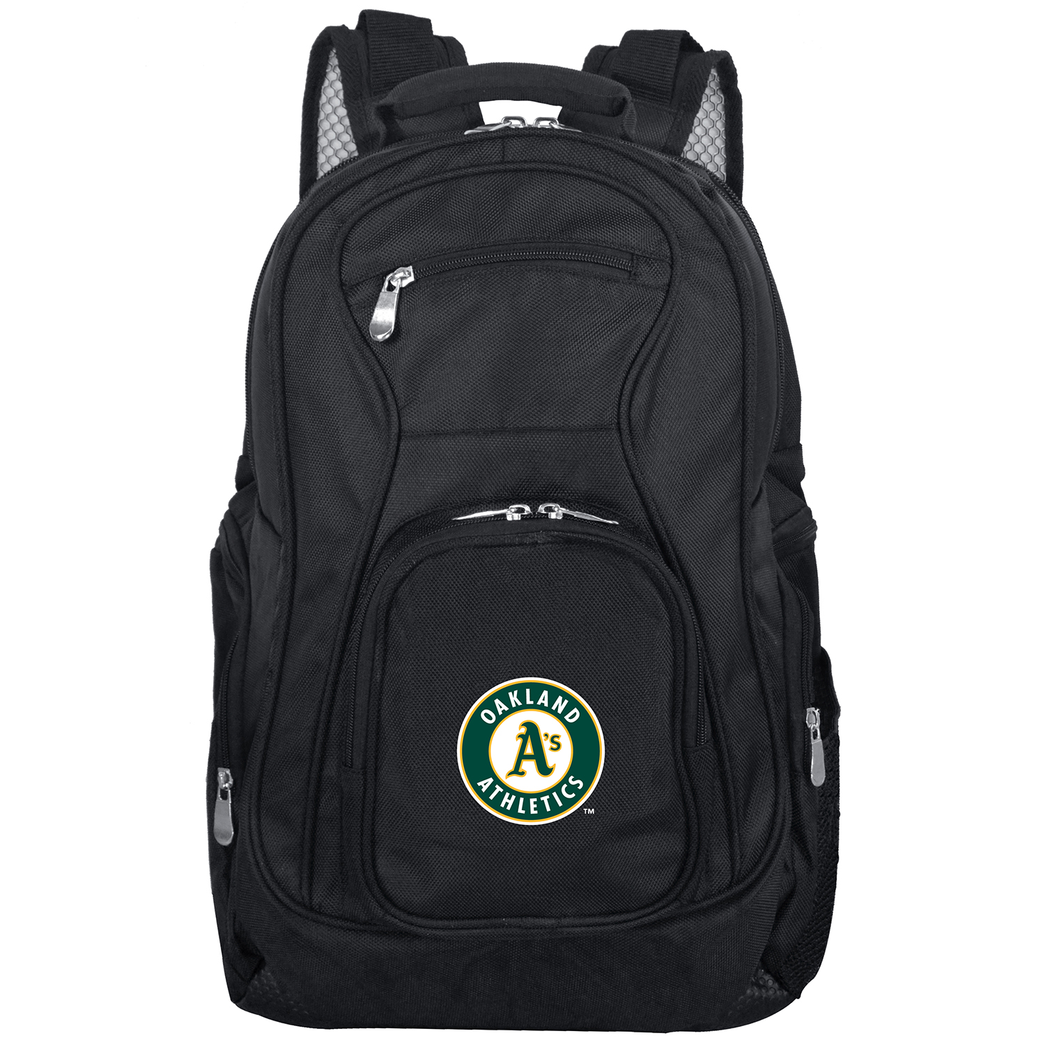 "Oakland Athletics 19"" Laptop Travel Backpack - Black - No Size"