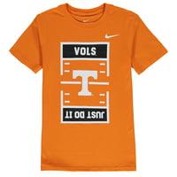 Tennessee Volunteers Nike Youth JDI Field Football T-Shirt - Tennessee Orange