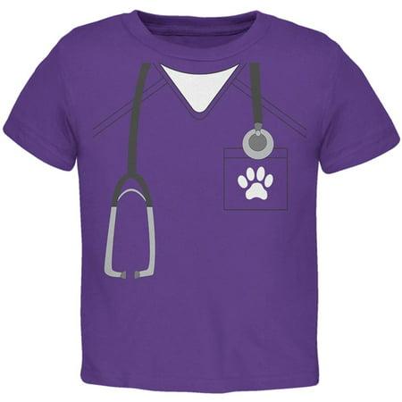 Halloween Vet Veterinarian Scrubs Costume Toddler T Shirt