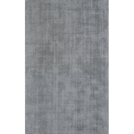 Dalyn Laramie Area Rugs - LR100 Contemporary Silver Solid Wool Rows Viscose Rug